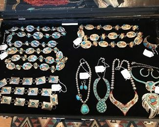 Overview of some of the Conchos and necklaces
