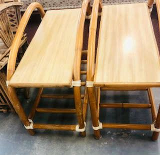"""Pr. Mid Century Modern End Table """"Old Floridian Style"""""""