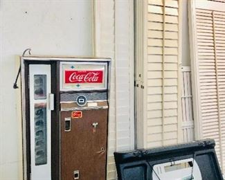 Drink Coke Machine , plantation shutters,  Shutters and fish cleaning tray