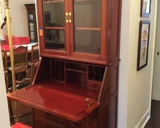 """Rosewood Desk & chair 78""""Hx17""""Dx38""""L"""
