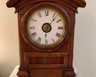 #10 Antique wood mantle/shelf clock $125