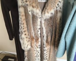 LYNX AND SABLE FUR COAT