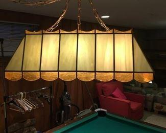 SLAG GLASS POOL BILLIARD LIGHT