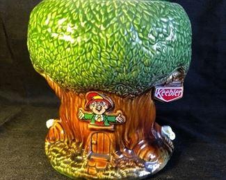 Vintage Keebler Elf Tree House Ceramic Cookie Jar