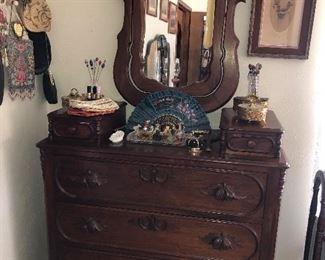 Antique Victorian Dresser with Mirror Circa 1890s