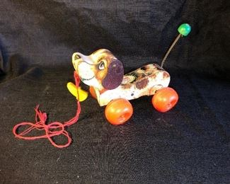 Vintage 1965 Fisher Price Little Snoopy pull toy