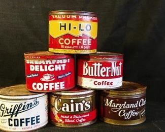 Vintage Coffee Tins