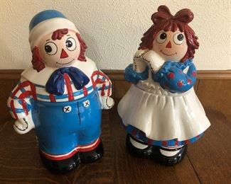 Raggedy Ann and Andy Cookie Jars