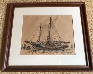 Original Reynold Weidenaar drawing