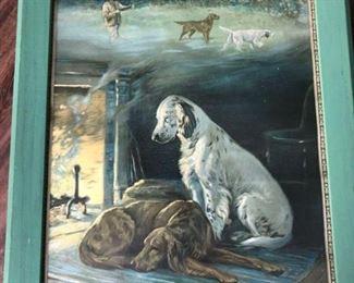 Antique calendar art