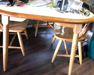 MCM formica table + 4 chairs