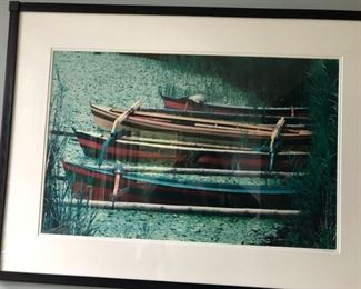 Boats signed/numbered photo