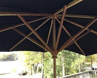 Wood patio umbrella