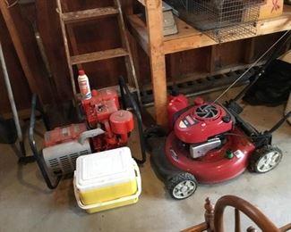 Homelite generator, lawn mower