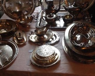Beautiful silver plated serving pieces