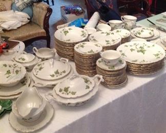 Large set of Ivy china
