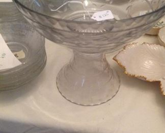 Hersey small punch bowl on stand