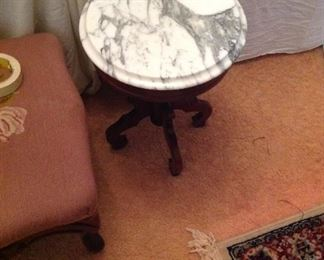 Short marble top table
