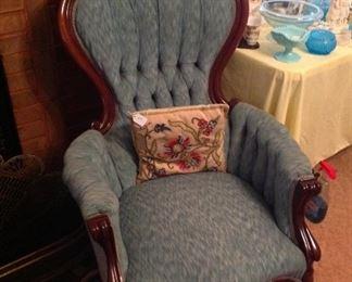 Victorian gentlemen's chair