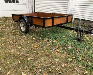 4' X 8' Tilt trailer (2008) - clear title