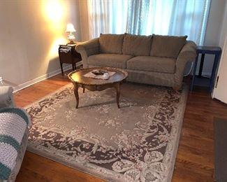 area rug, La-Z-boy sofa