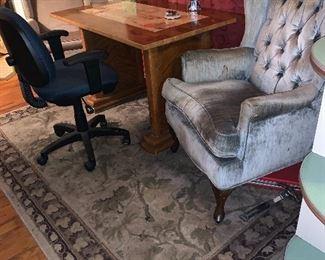 office chair, area rug
