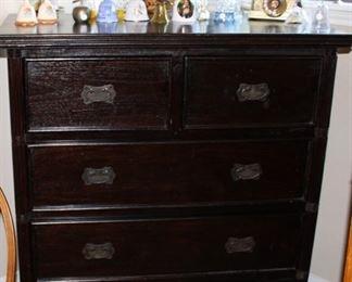 furniture dark chest drawers