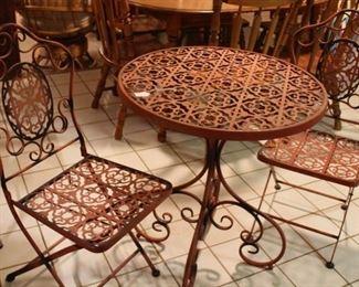 furniture metal bistro