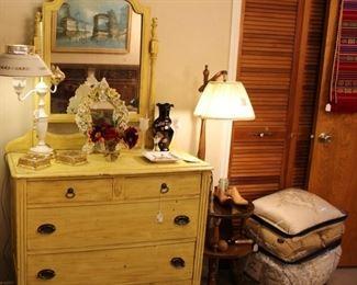 furniture shabby chic yellow dresser chest drawers