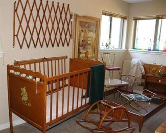 furniture vintage baby crib