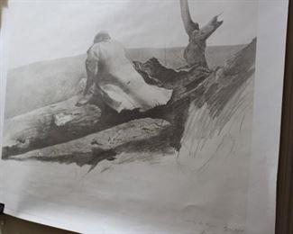 decor art black white