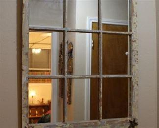 decor window pane mirror