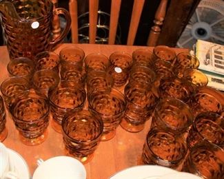 kitchen amber glassware cubist