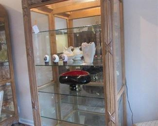 pair of these nice curio cabinets