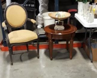 Several chairs and small tables