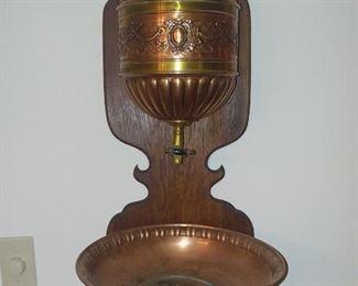 Victorian Lavabo with Jugenstil WMF Ostrich hallmark