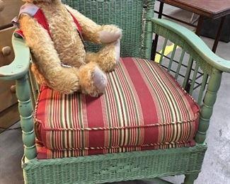 1920's Wicker chair. $20.00