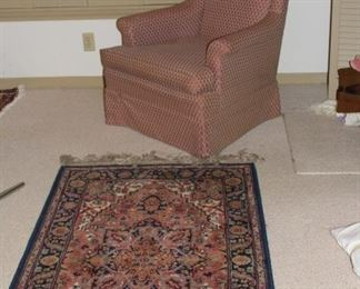 furniture chair and rug