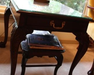furniture claw footed end table