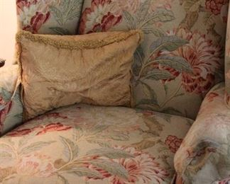 furniture pair floral chairs