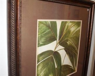 artwork tropical foliage
