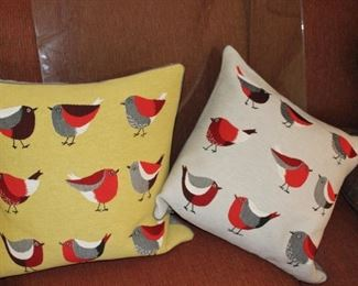 decor bird pillows