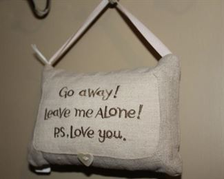 decor leave me alone pillow