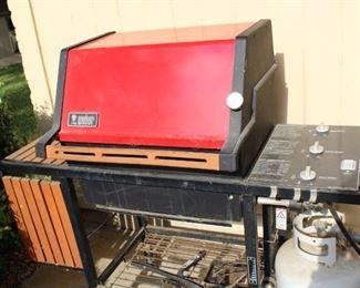 outside weber grill