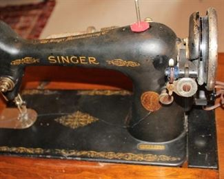 Singer sewing machine 1928 closeup