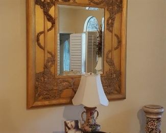 Gold Gilt Art Nouveau inspired Mirror