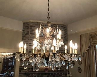 One of two Crystal Chandeliers