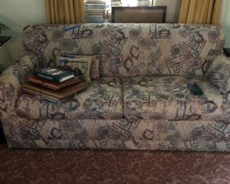 Sleeper sofa good condition and many vintage scrap books