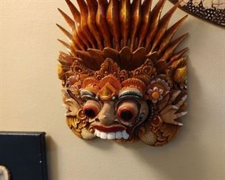 Hand Carved Asian Mask