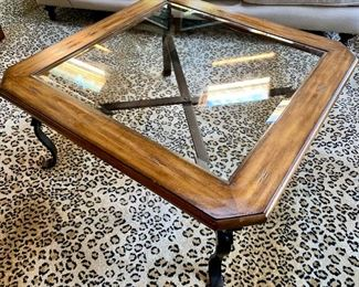 4 x 4 glass top coffee table